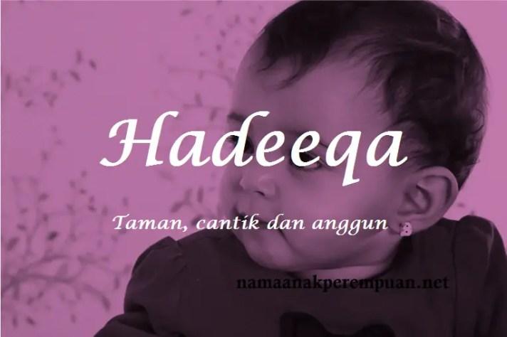 arti nama Hadeeqa