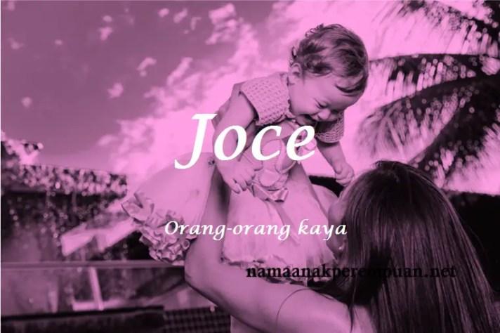 arti nama Joce