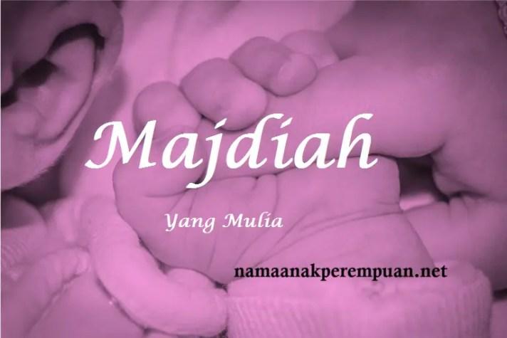 arti nama Majdiah