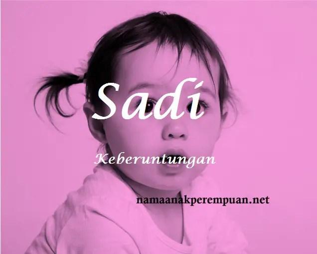 arti nama Sadi
