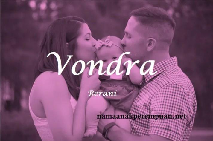 arti nama Vondra