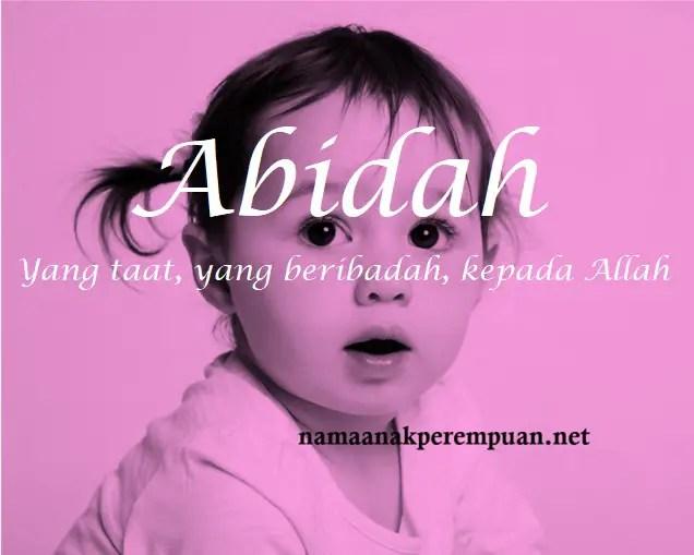 arti nama Abidah