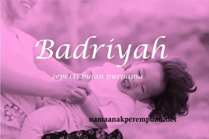 arti nama Badriyah