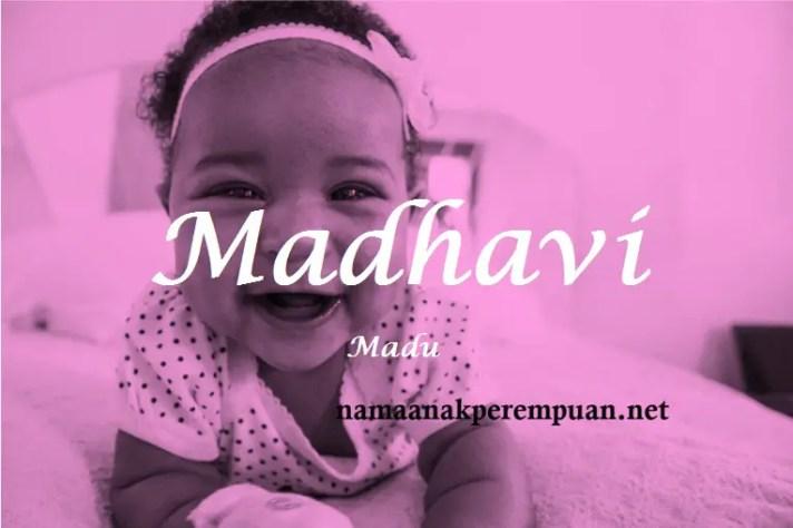 arti nama Madhavi