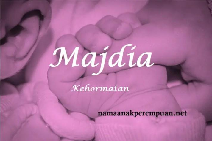 arti nama Majdia