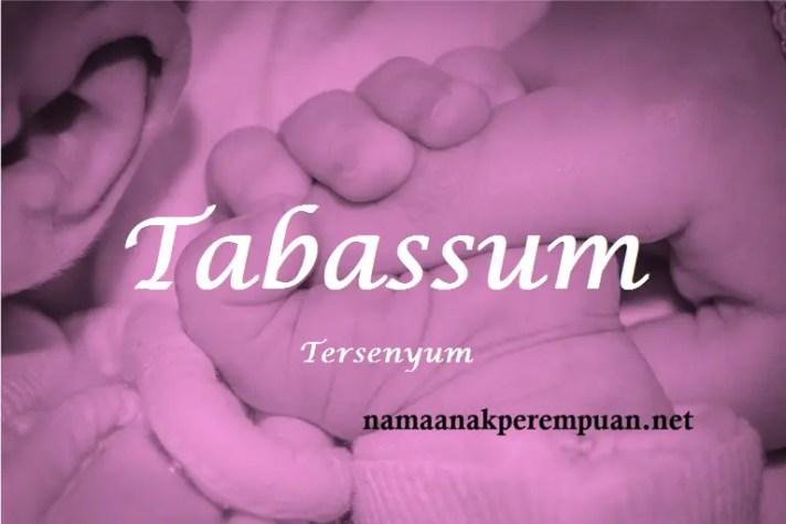 arti nama Tabassum
