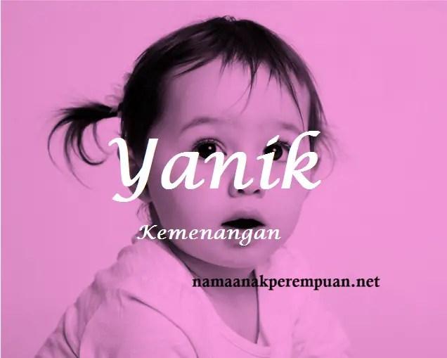 arti nama Yanik