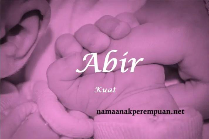 arti nama Abir