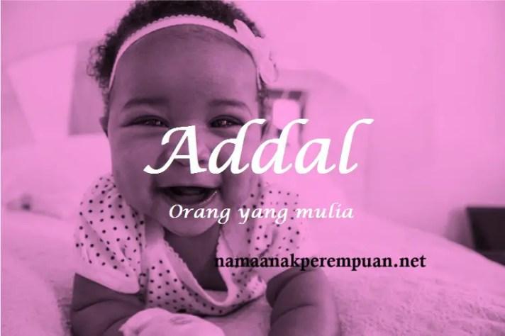 arti nama Addal