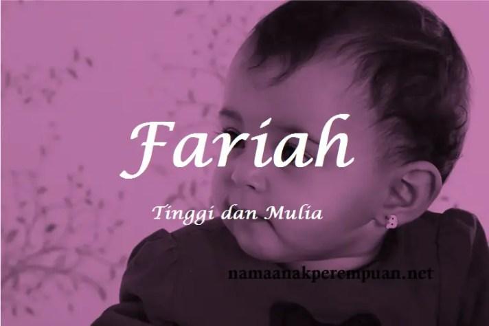 arti nama Fariah