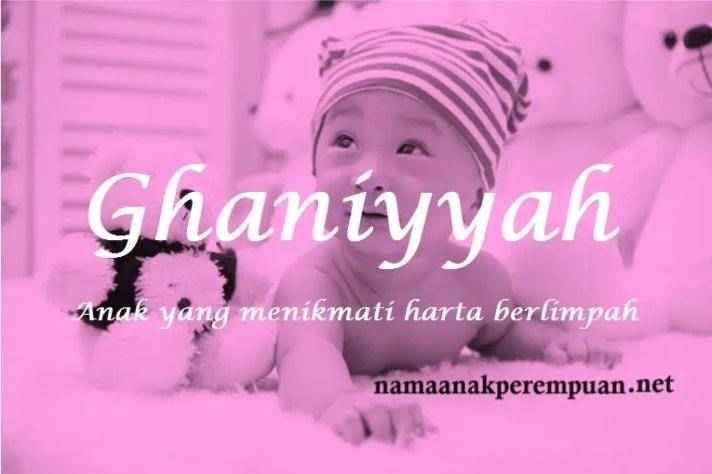 arti nama Ghaniyyah