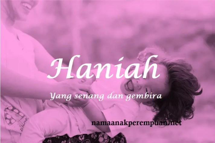 arti nama Haniah