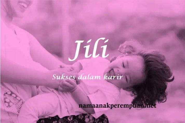 arti nama Jili