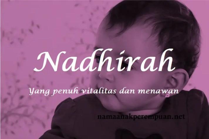 arti nama Nadhirah
