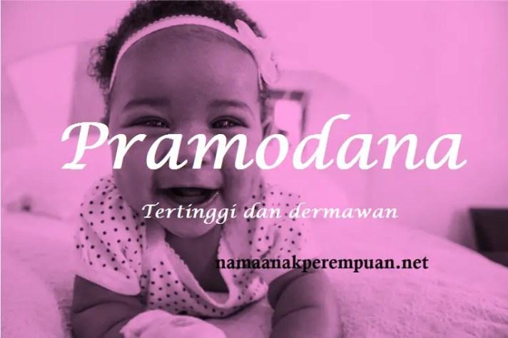 arti nama Pramodana