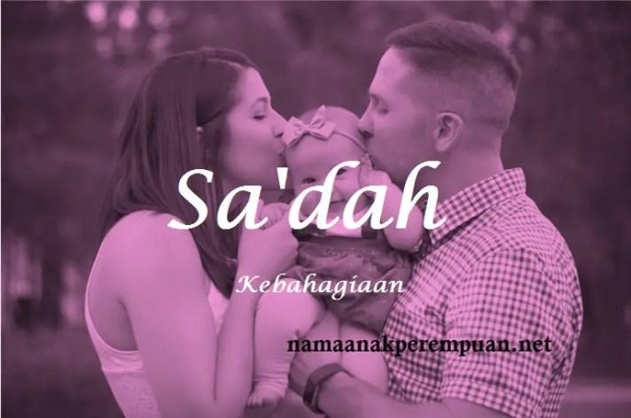 arti nama Sa'dah