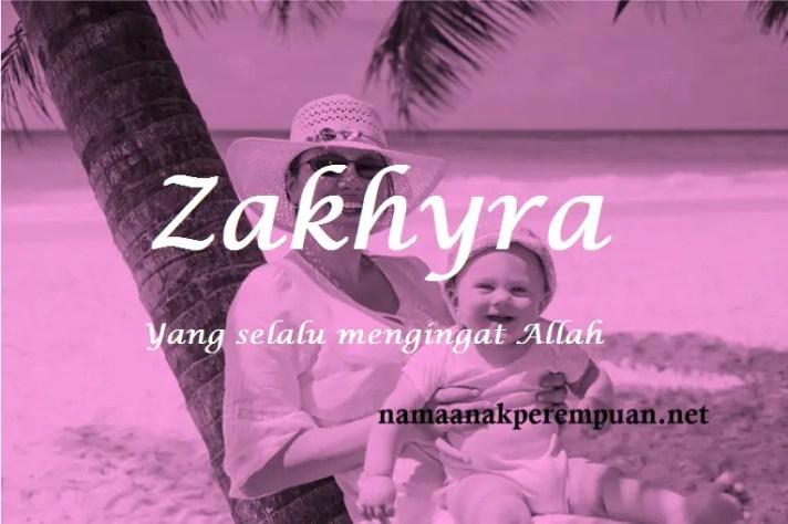 arti nama Zakhyra