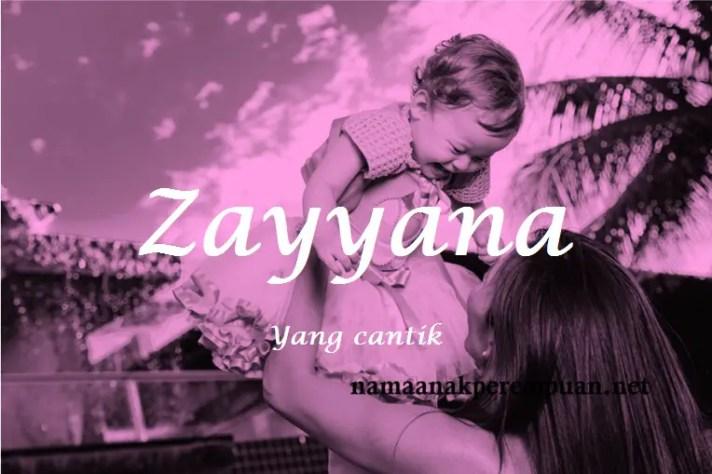 arti nama Zayyana