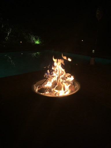fireplace in the dark