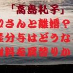 高島礼子離婚?財産分与はどうなる?高知東生は五十川敦子と再婚か?