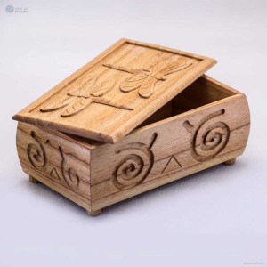 NA-hand-carved-rectangular-wooden-box-with-dragonfly-pattern