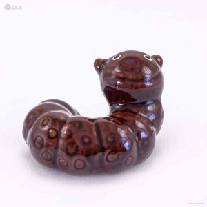NA-brown-ceramic-worm-figurine-ornaments-animal-model-gift-for-home-garden-statue-decorative-crafts
