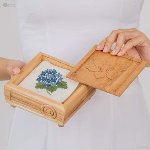 NA-silk-handkerchief-with-blue-hydrangea-flower