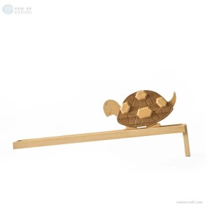 Hand-carved Wooden Moving Rabbit and Turtle Toy