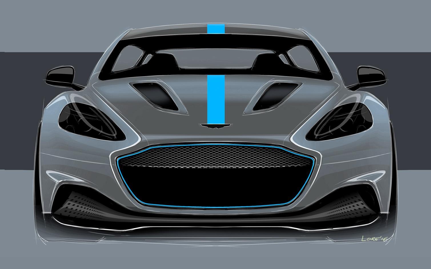 2019 Aston Martin Rapide Design Sketch Namastecar