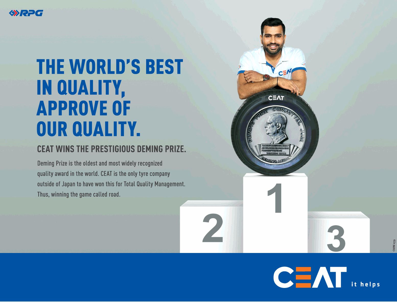 Ceat Wins Deming Prize Namaste Car