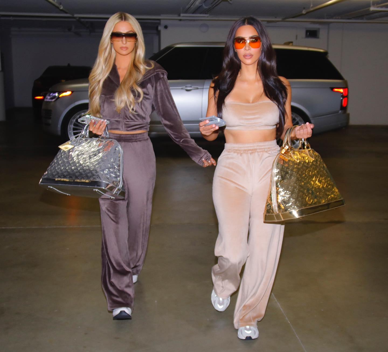 Kim Kardashian & Paris Hilton takes a day out in Range Rover - NamasteCar