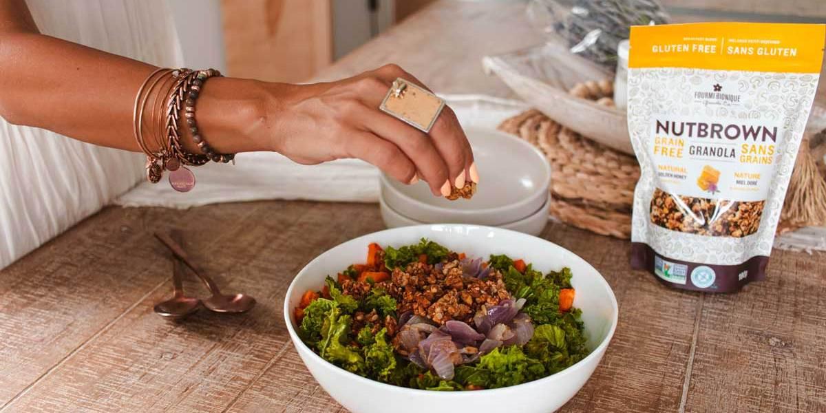 Recette | Salade de patates douces et de kale