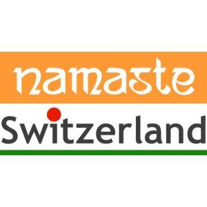 Logo identity of Namaste Switzerland