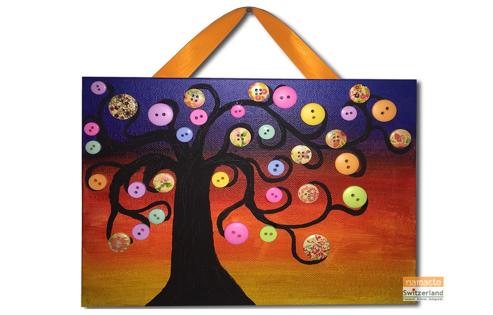 Fun colourful Button Craft with kids