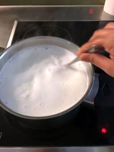Making paneer - Step 6