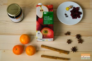 Ingredients for mulled apple juice