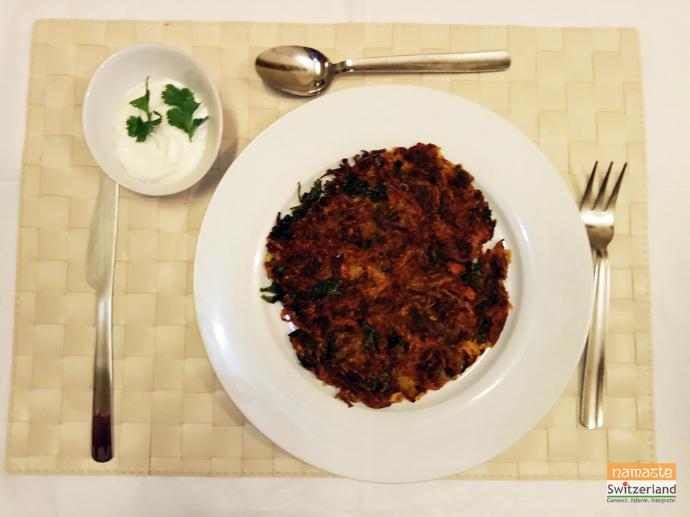 A delicious Rösti with an Indian twist