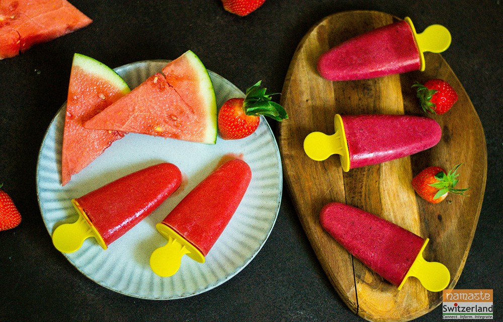 Beat the Heat with Strawberry Popsicles