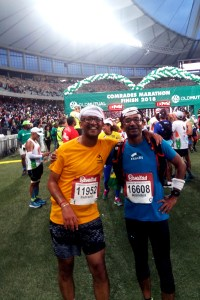 Indranil and Anindya Comrades Marathon