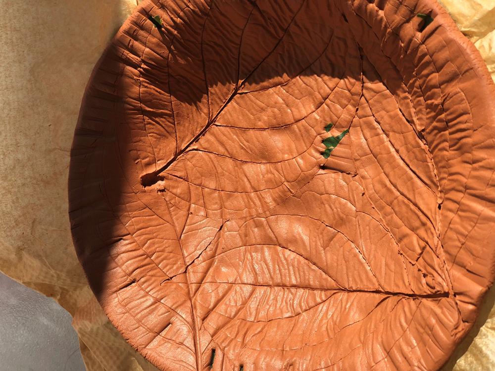 Leaf Print Clay Bowl - Step 4