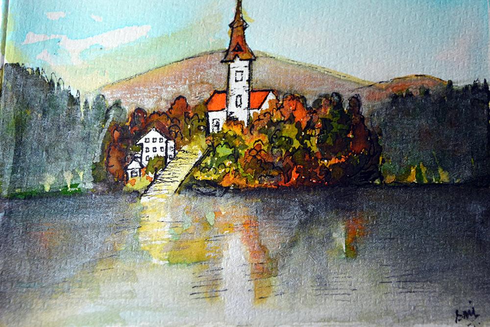 Illustration of Bled island