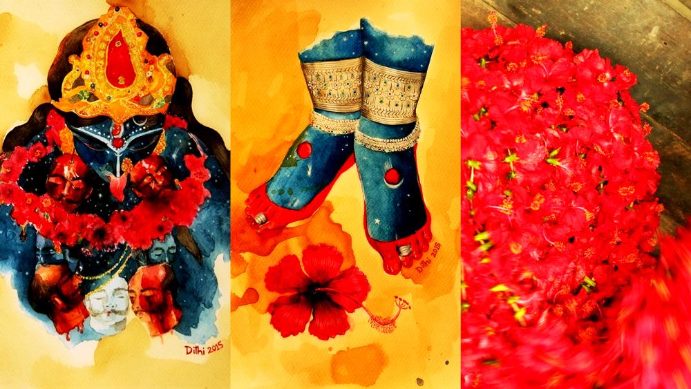 Painting - Goddess-Flow by Dithi Mukherjee