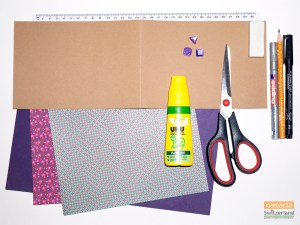 Photo of Materials Required for Winter Trees card
