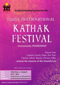 Swiss International Kathak Festival @ Gurukul Studios