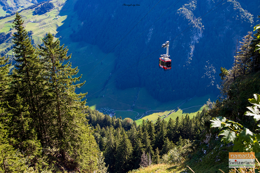 Cable car ride from Wasserauen to Ebenalp.