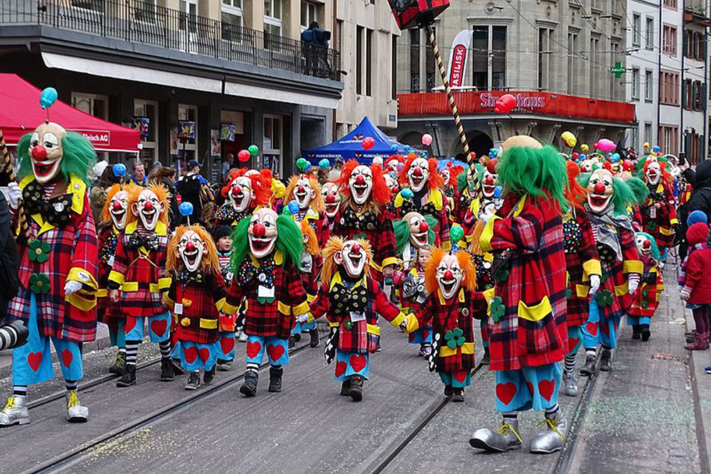 Children's parade at the Basel Fasnacht