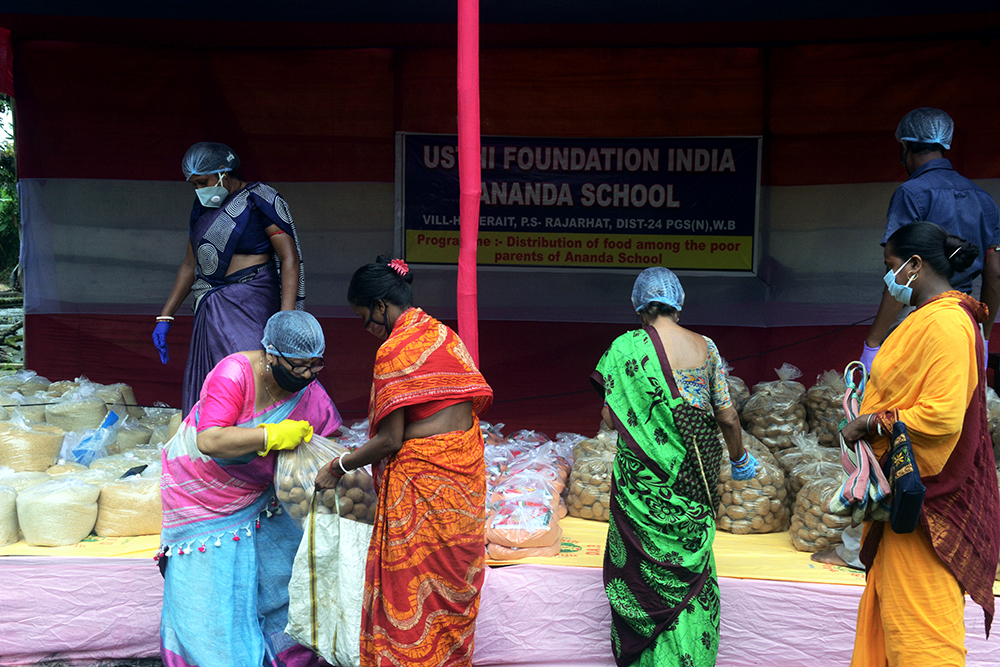 Photograph of Usthi foundation during COVID crisis in India