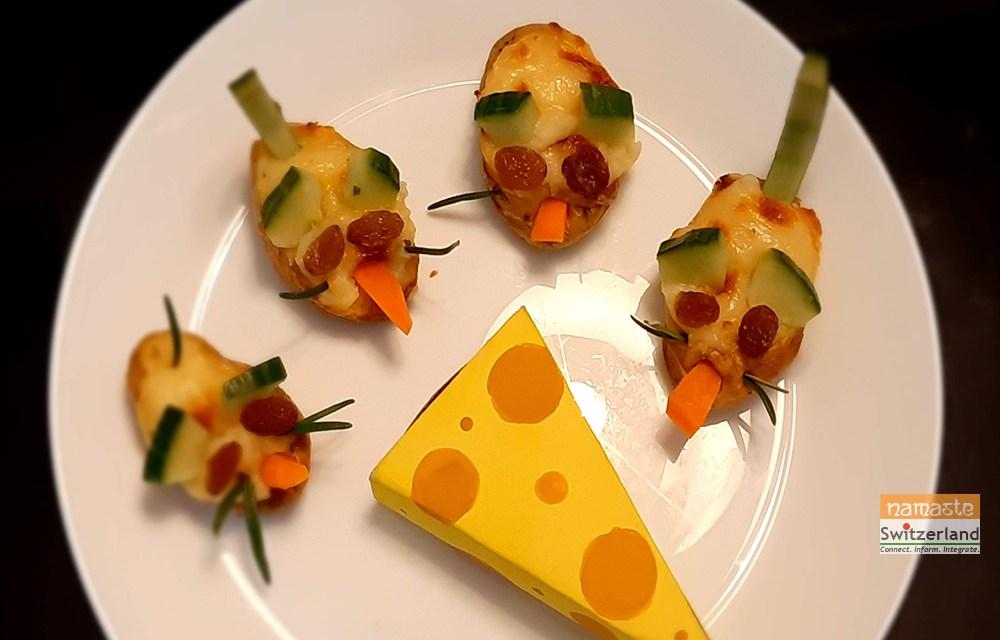 Edible Mice – a fun vegetarian treat !