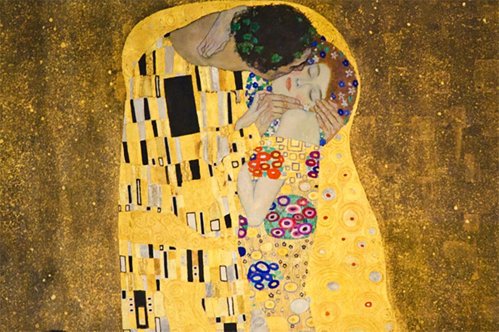 Image-showing-Gustav-Klimt---THe-Kiss
