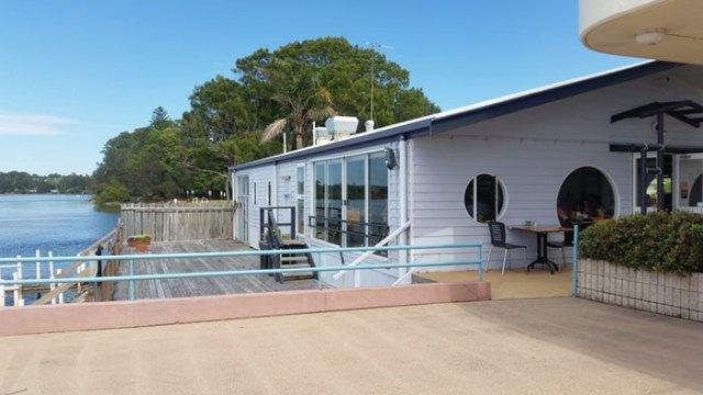 River boat house at Nambucca River